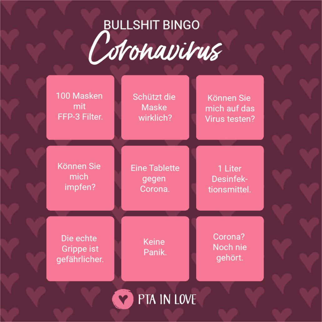 Bullshit-Bingo Coronavirus
