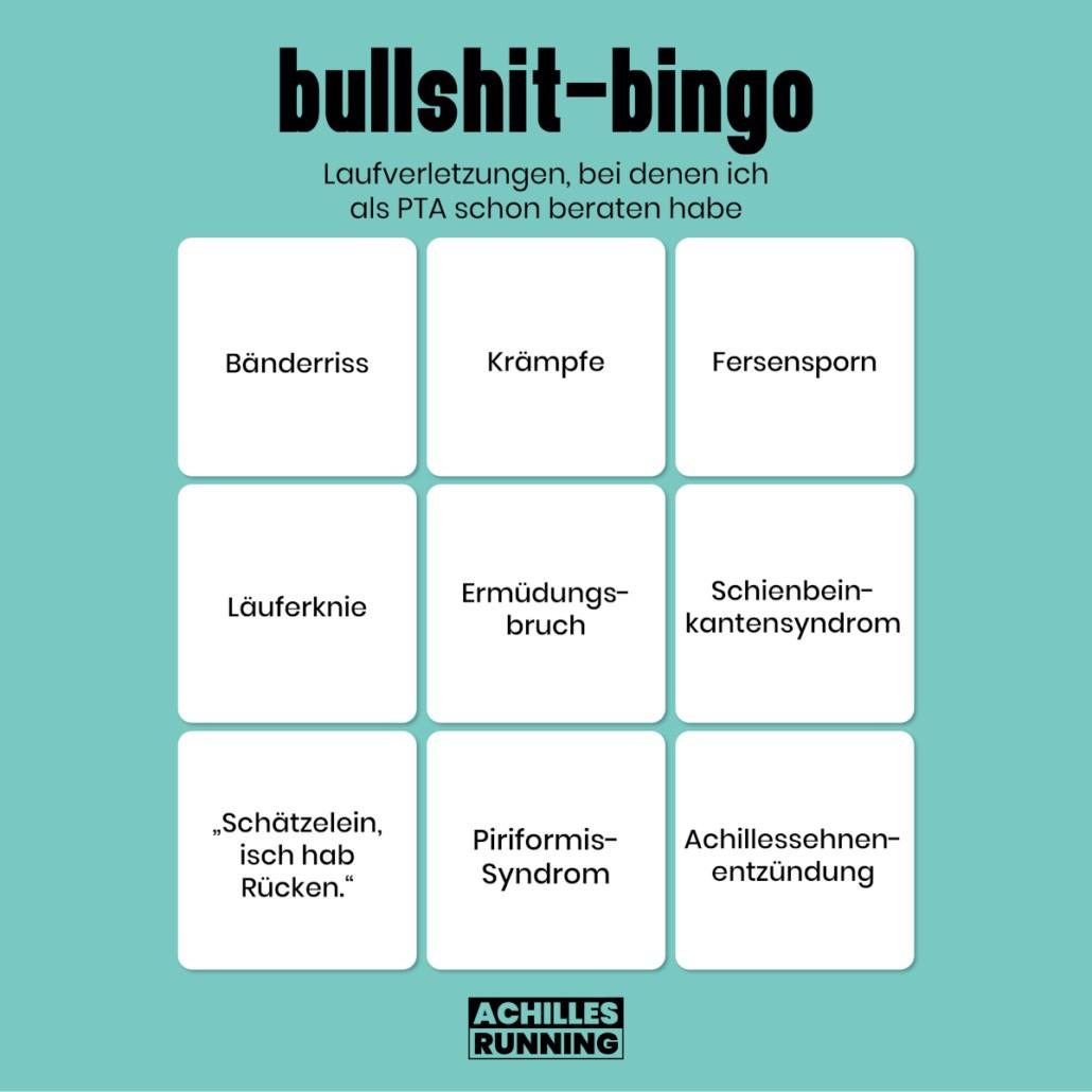 Bullshit-Bingo Laufverletzungen