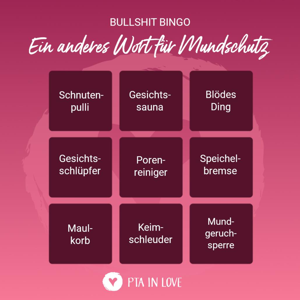 Bullshit-Bingo Mundschutz