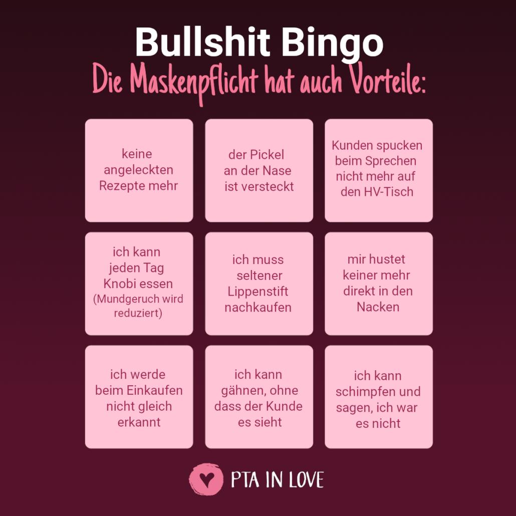 Bullshit-Bingo Maske Vorteile