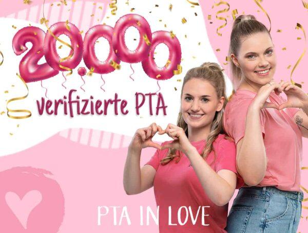 Symbolbild 20.000 verifizierte PTA