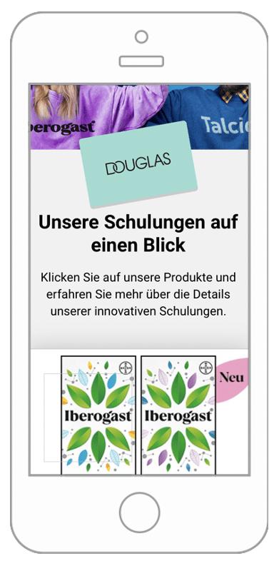 Bayer eLearning Plattform mobile Ansicht