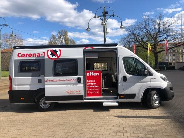 Schnelltestmobil Apotheke Dessau