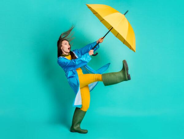 Symbolbild Frisur Wind Wetter